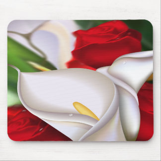 Calla Rose Mouse Pads