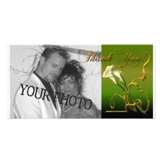 Calla Thank You Customized Photo Card