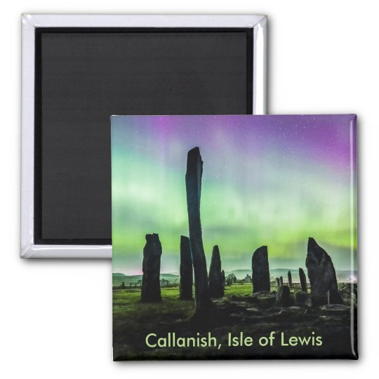 Callanish and Aurora Square Fridge Magnet