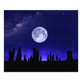 Callanish Stones Under The Supermoon Photo Print