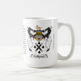 Callaway, the Origin, the Meaning and the Crest Classic White Coffee Mug