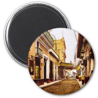 Calle de Habana Havana Cuba 6 Cm Round Magnet