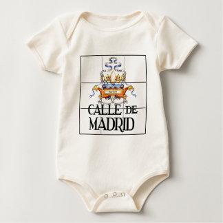 Calle de Madrid, Madrid Street Sign Baby Bodysuit