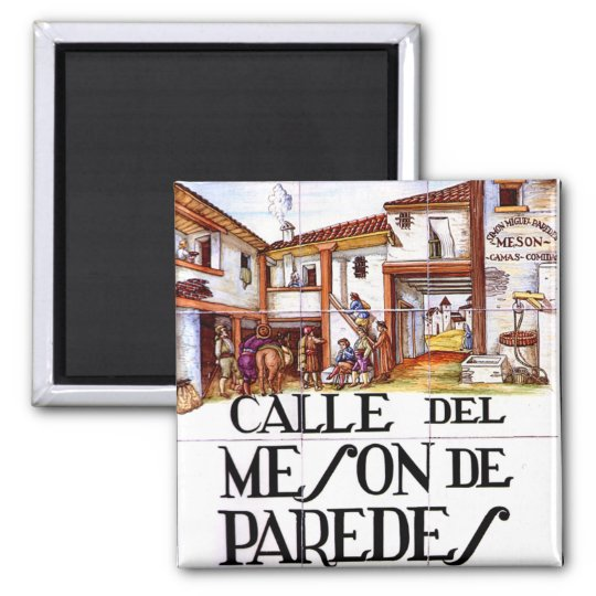 Calle del Meson de Paredes, Madrid Street Sign
