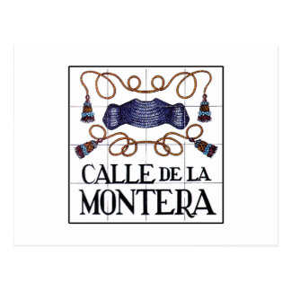 Calle Montera, Madrid Street Sign Postcard