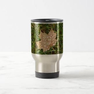 called leaf with dew drops mugs