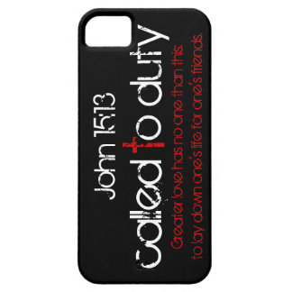 Called to duty bible verse John 15:13 iPhone case iPhone 5 Cover