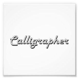 Calligrapher Classic Job Design Photograph