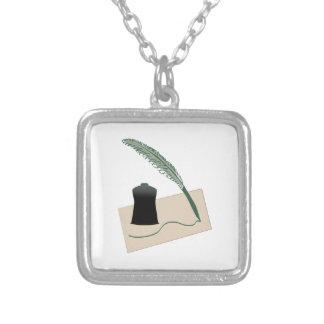 Calligrapher Instruments Necklace