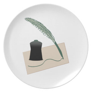 Calligrapher Instruments Party Plates