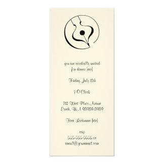 Calligraphic Fountain Pen Card