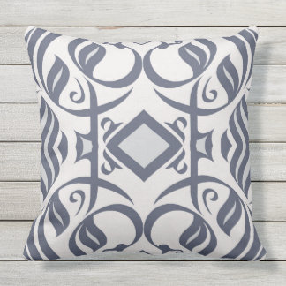 Calligraphic Pillow in Indigo