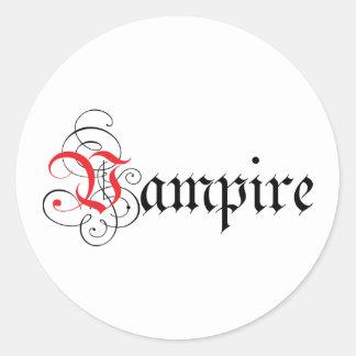 Calligraphic  Vampire Classic Round Sticker