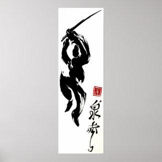 calligraphie Ninja Poster