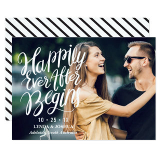 Calligraphy And Photo Wedding Save The Date Card