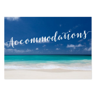 Calligraphy Beach Wedding Accommodation Cards Pack Of Chubby Business Cards
