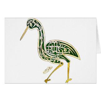 Calligraphy Bird (Stork) Card