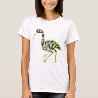 Calligraphy Bird (Stork) T-Shirt