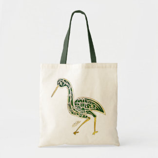 Calligraphy Bird (Stork) Tote Bag