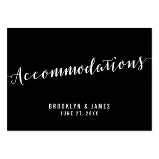 Calligraphy Black Wedding Accommodation Cards Pack Of Chubby Business Cards