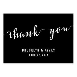 Calligraphy Black Wedding Favor Tags Pack Of Chubby Business Cards