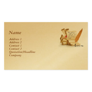 Calligraphy Business Card Template