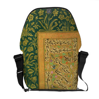 Calligraphy by Mir Ali of Herat, with a Mughal bor Messenger Bag