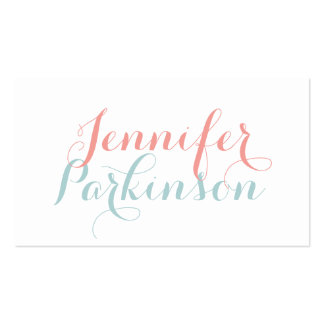 Calligraphy Calling Card Pack Of Standard Business Cards