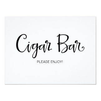 "Calligraphy | ""Cigar Bar"" Wedding sign Card"