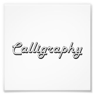 Calligraphy Classic Retro Design Photograph