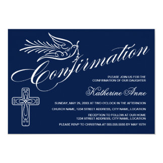 Calligraphy Confirmation with Cross and Dove Card