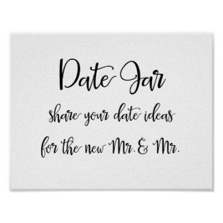 Calligraphy | Date jar ideas gay wedding sign Poster
