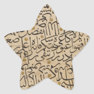 Calligraphy Exercise by Ahmed Karahisari Star Sticker