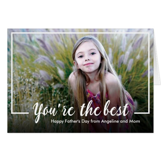 Calligraphy Father's Day Photo Greeting Card