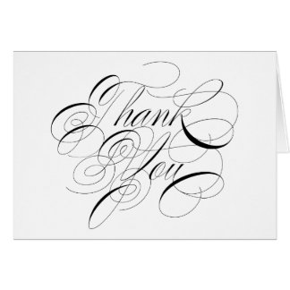 Calligraphy Formal Wedding Thank You Note Card