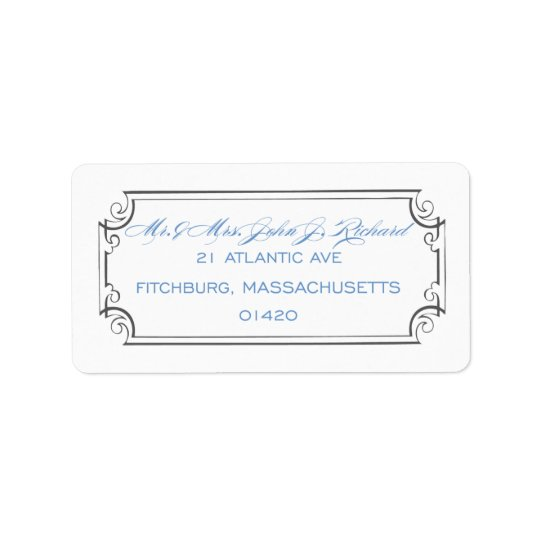 Calligraphy Frame Address Label