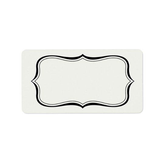 Calligraphy Frame Border Off-White Label Template Address Label