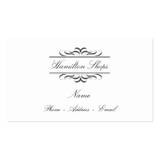 Calligraphy Label Business Cards