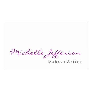 Calligraphy Makeup Artist Simple Business Card