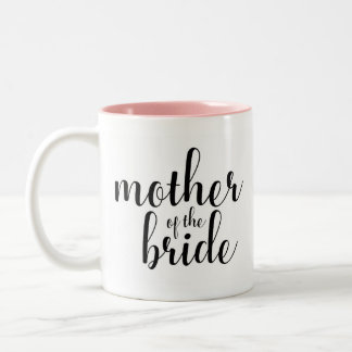 Calligraphy mother of the bride, bridal mug