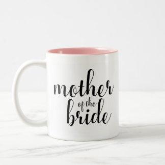 Calligraphy mother of the bride, bridal mug