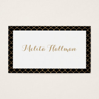 Calligraphy Name Art Deco Pattern Business Card