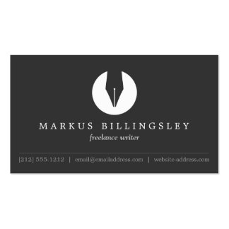 CALLIGRAPHY PEN NIB LOGO 4 for Authors or Writers Pack Of Standard Business Cards