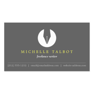 CALLIGRAPHY PEN NIB LOGO 5 for Authors or Writers Pack Of Standard Business Cards