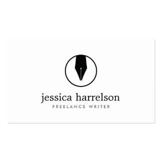 CALLIGRAPHY PEN NIB LOGO I for Authors or Writers Pack Of Standard Business Cards