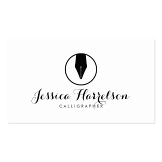 CALLIGRAPHY PEN NIB LOGO I for Calligraphers Pack Of Standard Business Cards