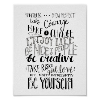 Calligraphy Quote Poster