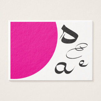 Calligraphy Retro Pink Business cards