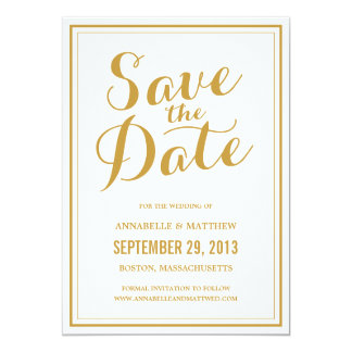 Calligraphy Save the Date Announcement
