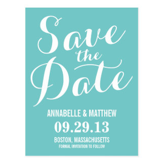 Calligraphy Save the Date Postcard
